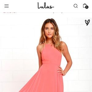 Mythical kind of love coral pink maxi dress lulus